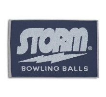 Storm Woven Towel Navy/Silver