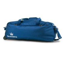 Brunswick 3 ball Combat Triple Tote Blue