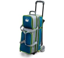 Brunswick 3 Ball Roller Crown Deluxe Navy/Lime
