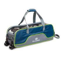 Brunswick 3 ball Crown Deluxe Tote Navi/Lime