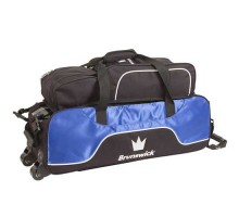 Brunswick 3 ball Crown Triple Tote Royal With Shoe Pouch