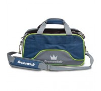 Brunswick 2 Ball Crown Deluxe Tote Navy/Lime