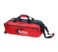 Turbo 3 Ball Pursuit Slim Triple Tote Red Black